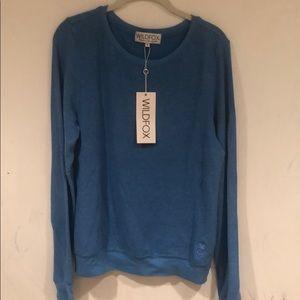 Blue wild fox sweatshirt